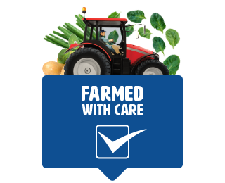Red Tractor tractor farmed with care tick